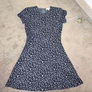 Ann Taylor Loft Leopard Fit & Flare Mini Dress